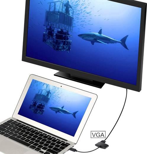 Átalakító, DisplayPortról HDMI + VGA-ra, Renkforce