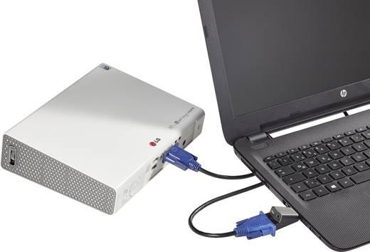 HDMI/VGA adapter, 1x HDMI dugó - 1x VGA alj/3,5 mm jack alj, fekete, Renkforce