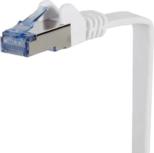 RJ45 Patch kábel, hálózati LAN kábel, hajlékony, tűzálló CAT 6A S/FTP 15 m szürke, Renkforce