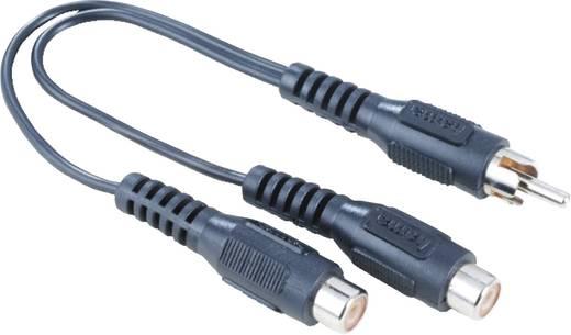 RCA audio átalakító, 1 x RCA dugó - 1x RCA alj fekete, Hama