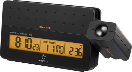 Rádiójel vezérelt kivetítős ébresztőóra, 185 x 87 x 57 mm, renkforce Smart USB
