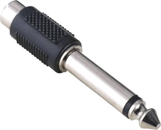 Jack audio átalakító, 1 x RCA alj - 1x Jack-dugó 6,35 mm-es, fekete, Hama