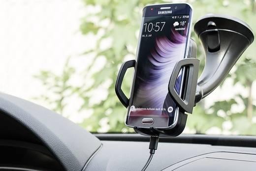 Autós telefontöltő, vezeték nélküli indukciós töltő, max.1A Goobay Qi-Standard 44171