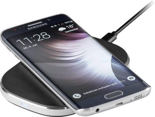 Asztali telefontöltő, vezeték nélküli indukciós töltő, max.1A Goobay Qi-Standard 44168
