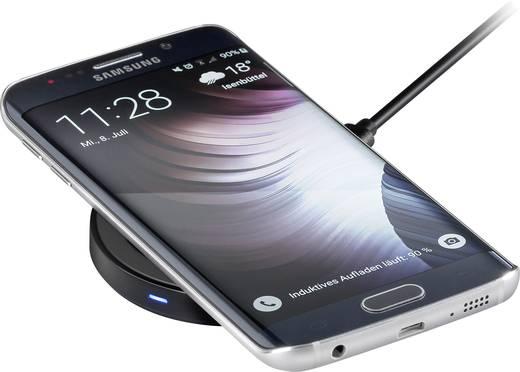 Asztali telefontöltő, vezeték nélküli indukciós töltő, max.1A Goobay Qi-Standard 44169