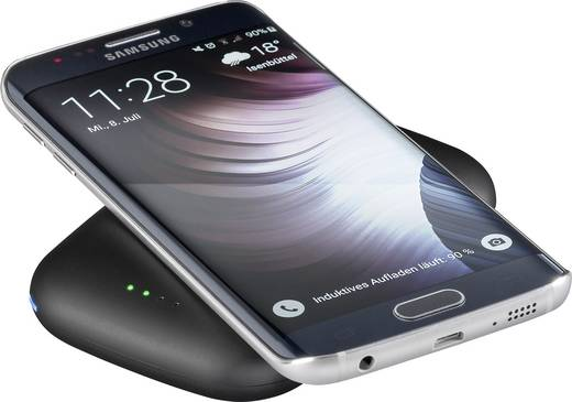 Powerbank asztali telefontöltő, vezeték nélküli indukciós töltő, max.1A Goobay Qi-Standard 44170