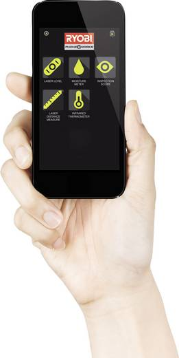 Lézeres távolságmérő adapter, smart okostelefonokhoz 30m-ig Ryobi RPW-1000
