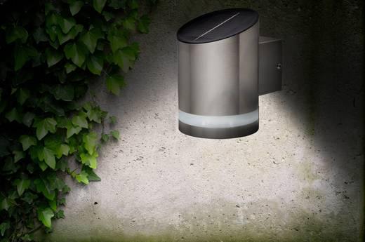 Napelemes kültéri fali lámpa, hidegfehér, renkforce SOL-CIL721A Siero, nemesacél (matt)