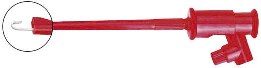 Kampós mérőcsipesz, griffcsipesz 4mm-es banándugó aljzattal, piros Voltcraft R8-16C R