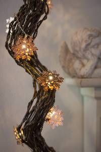 Figurás fényfüzér Hópehely beltéri, elemes, 10 LED Melegfehér 1.2 m Konstsmide 3146-603 Konstsmide