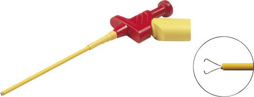 Karmos griffcsipesz, mérőcsipesz 4mm-es banándugó aljzattal, piros SKS Hirschmann KLEPS 250