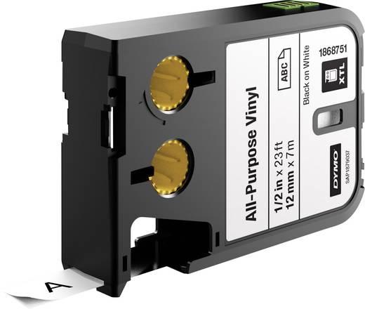 Feliratozó szalag többcélú vinil DYMO XTL Labels Szalagszín: Fehér Szövegszín:Fekete 12 mm