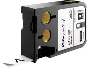 Feliratozó szalag többcélú vinil DYMO XTL Labels Szalagszín: Fehér Szövegszín:Fekete 19 mm DYMO