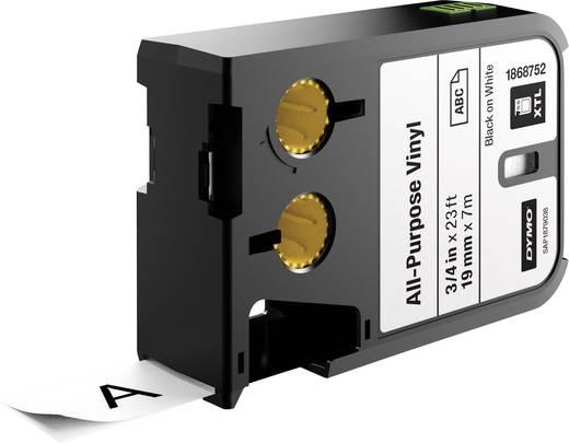 Feliratozó szalag többcélú vinil DYMO XTL Labels Szalagszín: Fehér Szövegszín:Fekete 19 mm