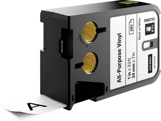 Feliratozó szalag többcélú vinil DYMO XTL Szalagszín: Fehér Szövegszín:Fekete 24 mm