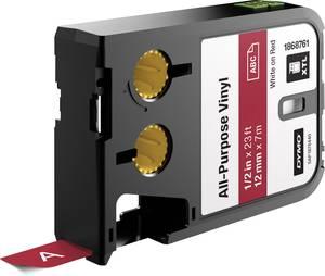 Feliratozó szalag többcélú vinil DYMO XTL Labels Szalagszín: Piros Szövegszín:Fehér 12 mm DYMO