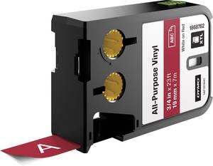 Feliratozó szalag többcélú vinil DYMO XTL Labels Szalagszín: Piros Szövegszín:Fehér 19 mm DYMO
