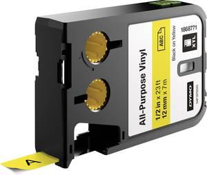 Feliratozó szalag, többcélú 12 mm 7 m sárga szalag, fekete betűk DYMO 1868771 XTL DYMO