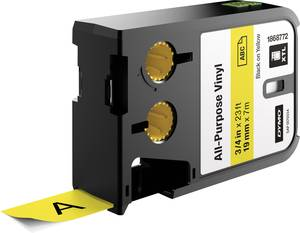 Feliratozó szalag többcélú vinil DYMO XTL Labels Szalagszín: Sárga Szövegszín:Fekete 19 mm DYMO