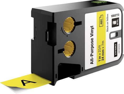Feliratozó szalag többcélú vinil DYMO XTL Labels Szalagszín: Sárga Szövegszín:Fekete 24 mm