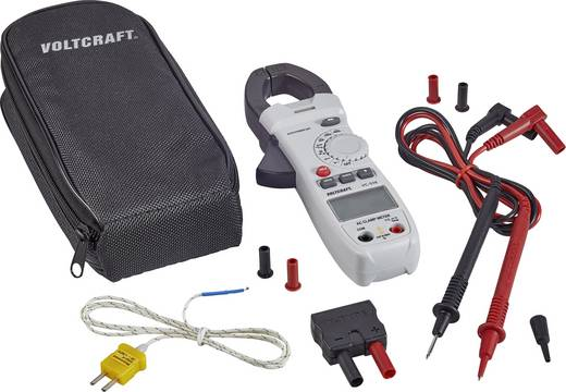 AC váltóáramú lakatfogó műszer, multiméter CAT III 600 V, 400 A/AC Voltcraft VC-519