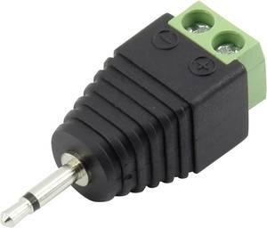 Jack dugó, 2,5 mm, egyenes, 2 pólus, mono, fekete, Tru Components 93013c1141 Conrad Components