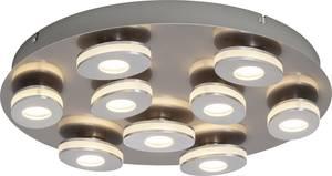 Brilliant Crossing G08599/21 LED-es mennyezeti fényszóró 36 W Nikkel, Alumínium Brilliant