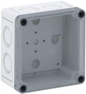 Installációs műszerdoboz 94 x 94 x 57 mm, polikarbonát, fényes szürke, Spelsberg TK PC 99-6-TM Spelsberg