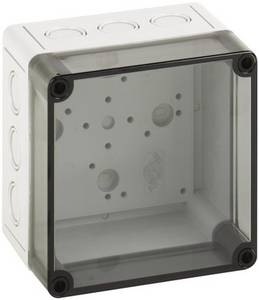 Installációs műszerdoboz 130 x 130 x 99 mm, polikarbonát, fényes szürke, Spelsberg TK PC 1313-10-TM Spelsberg
