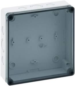 Installációs műszerdoboz 180 x 182 x 63 mm, polikarbonát, fényes szürke, Spelsberg TK PC 1818-6F-TM Spelsberg