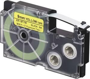 Feliratozó szalag, sárga (fluoreszkáló)/fekete, 9 mm x 5,5 m, Casio XR-9FYW Casio