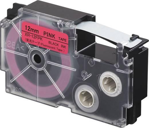 Feliratozó szalag, fluoreszkáló Casio XR-12FPK Szövegszín:Fekete 12 mm 5.5 m