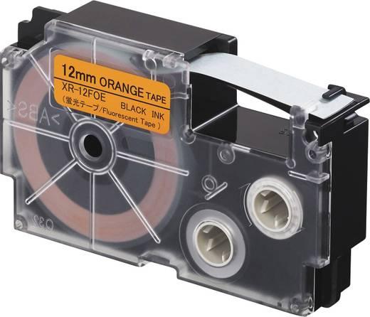 Feliratozó szalag, fluoreszkáló Casio XR-12FOE Szövegszín:Fekete 12 mm 5.5 m