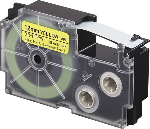 Feliratozó szalag, fluoreszkáló Casio XR-12FYW Szalagszín: Sárga (fluoreszkáló) Szövegszín:Fekete 12 mm 5.5 m