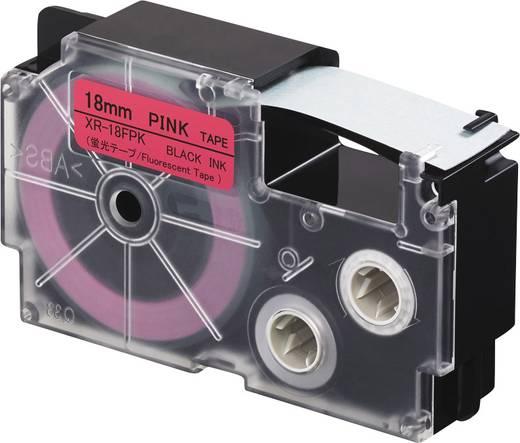 Feliratozó szalag, fluoreszkáló Casio Szövegszín: fekete 18/ 5.5 m, XR-18FPK