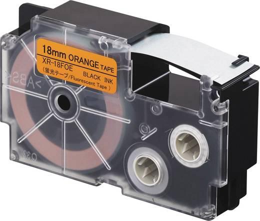 Feliratozó szalag, fluoreszkáló Casio Szövegszín:Fekete 18 mm 5.5 m XR-18FOE