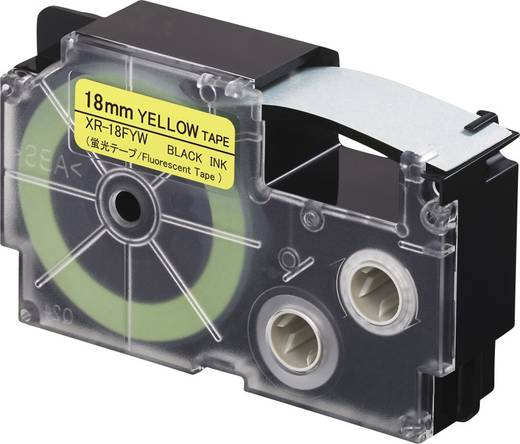 Feliratozó szalag, fluoreszkáló Casio Szövegszín:Fekete 18 mm 5.5 m XR-18FYW