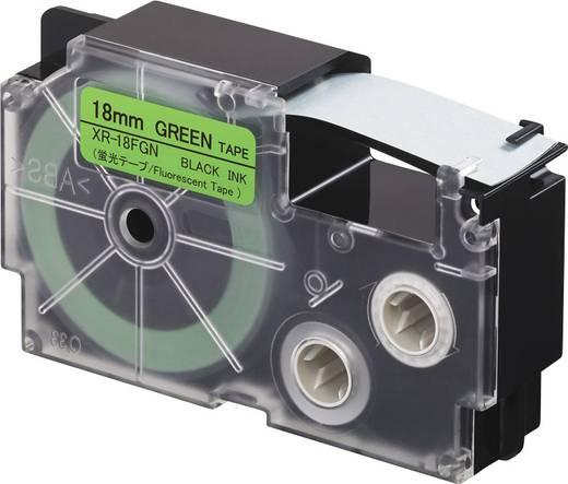 Feliratozó szalag, fluoreszkáló Casio Szövegszín:fekete 18 mm 5.5 m XR-18FGN