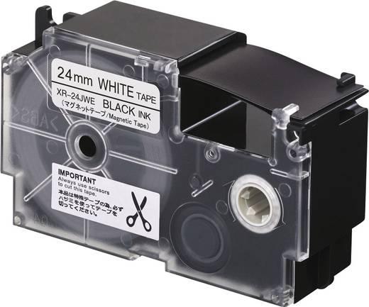 Feliratozó szalag, mágneses Casio Szalagszín: Fehér Szövegszín:Fekete 24 mm 1.5 m