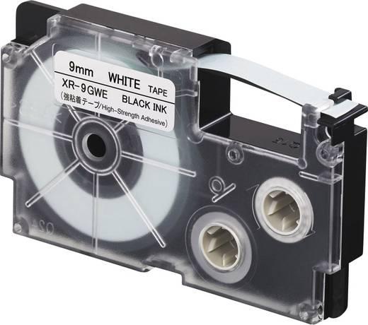 Feliratozó szalag, extra erős tapadás Casio Szalagszín: Fehér Szövegszín:Fekete 9 mm 5.5 m