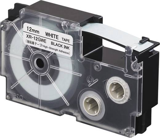 Feliratozó szalag, extra erős tapadás Casio Szalagszín: Fehér Szövegszín:Fekete 12 mm 5.5 m