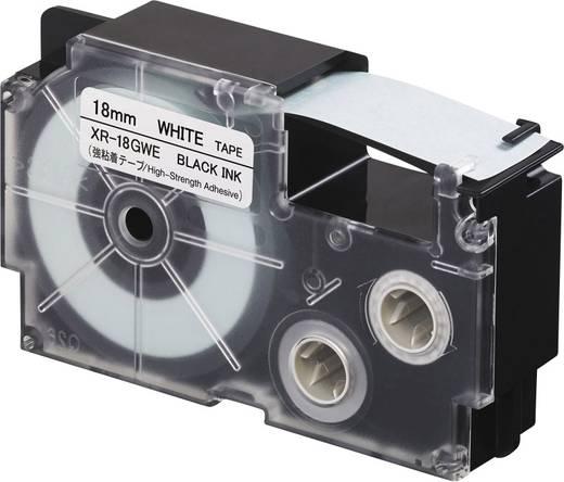 Feliratozó szalag, extra erős tapadás Casio Szalagszín: Fehér Szövegszín:Fekete 18 mm 5.5 m