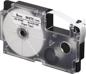 Feliratozó szalag, papír Casio Szalagszín: Fehér Szövegszín:Fekete 9 mm 8 m Casio