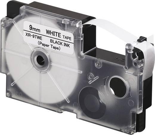 Feliratozó szalag, papír Casio Szalagszín: Fehér Szövegszín:Fekete 9 mm 8 m