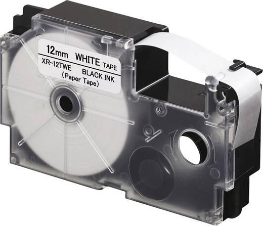 Feliratozó szalag, papír Casio Szalagszín: Fehér Szövegszín:Fekete 12 mm 8 m