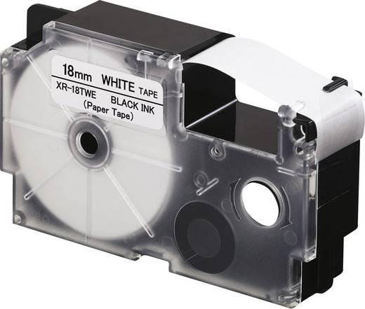 Feliratozó szalag, papír Casio Szalagszín: Fehér Szövegszín:Fekete 18 mm 8 m