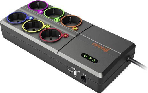 WiFi-s fogyasztásmérős hálózati elosztó, USB töltővel Revogi SOW323