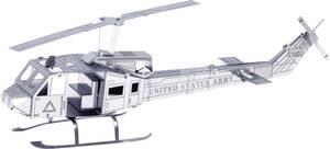 Metal Earth Huey UH-1 katonai helikopter makett, 3D lézervágott fémmodell építőkészlet 502506 Metal Earth