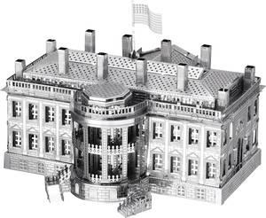Metal Earth White House, Fehér ház makett, 3D lézervágott fémmodell építőkészlet 502632 Metal Earth