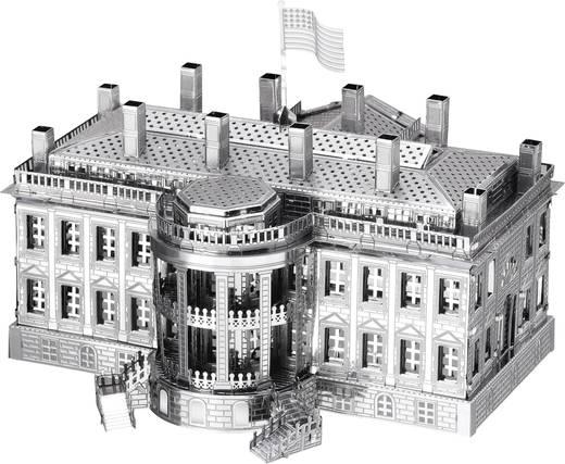 Metal Earth White House, Fehér ház makett, 3D lézervágott fémmodell építőkészlet 502632